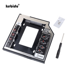 Kebidu Новый SATA 2nd HDD Caddy 9,5 мм для 9,5 мм SSD корпус жесткий диск Корпус Bay для Тетрадь странно Optibay CD-Rom(China)