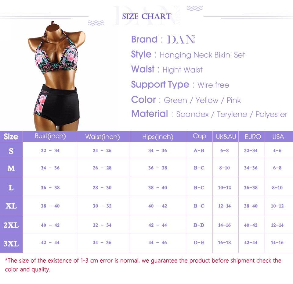 DANENJOY Sexy Printing Bikini Set Women Swimsuit Push Up Brazilian Swimwear 17 High Waist Biquines Feminino African Beachwear 3