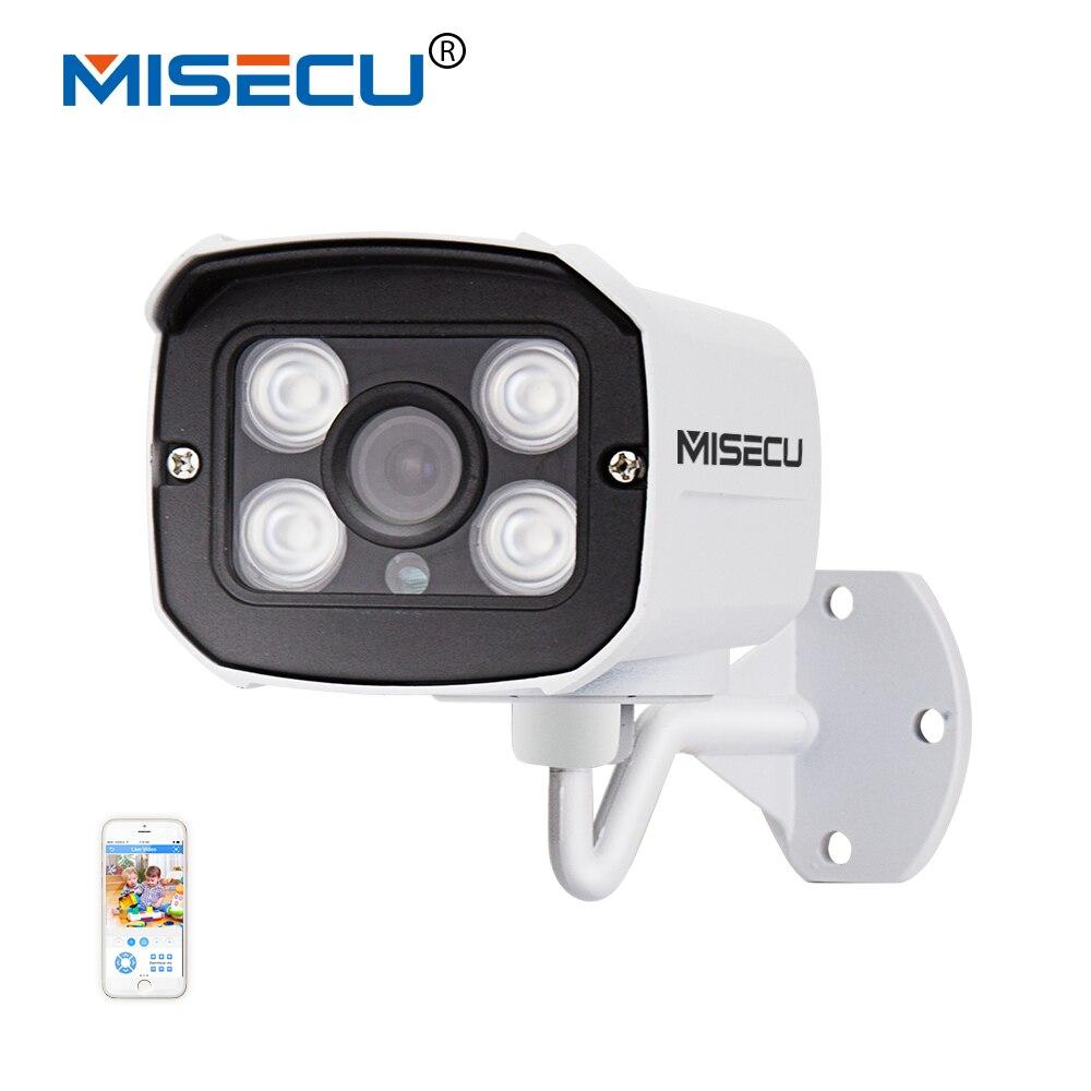 MISECU 1920*1080 2.0MP IP Camera 1080P 4pc array leds ONVIF 2.0 Waterproof IR Night Vision P2P CCTV Home Surveillance Security<br>