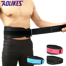 AOLIKES Squat Weight Lifting Waist Belt Gym Fitness Body-building Exercise EVA Nylon Waist Protector Strap