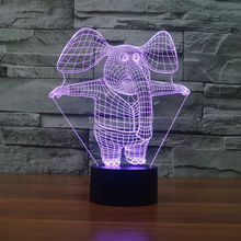 Elephant present for Kids Bedroom Christmas 3D led night light furniture(China)