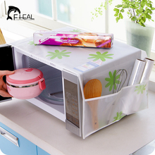 FHEAL New Colorful Microwave Cover Waterproof Oilproof Anti-dust Storage Bag Organizer Pouch Sheet with Double Pockets Kitchen(China)