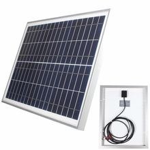 Universal 12V 20W Polycrystalline Stored Energy Power Poly Solar Panel Module System Cells Charger+300cm Cable+2 Alligator Clips