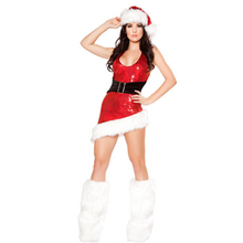 Exquisite Halloween Masquerade Party Woman Lady Sexy Fancy Dress Costume For Christmas Santa and Father Christmas Outfit L7072