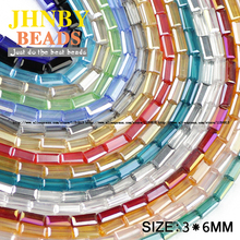 JHNBY AAA Rectangular crystal beads Austrian crystal beads 3*6mm 80pcs Square glass Loose beads for jewelry making bracelet DIY()