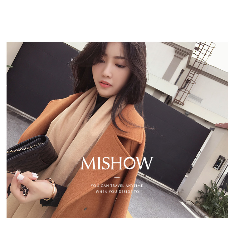 Mishow 19 autumn and winter woolen coat female Mid-Long New Korean temperament women's popular woolen coat MX17D9636 32