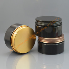 100ml Empty Container for Styling Gel Hair Wax 100g Cream Jar PET Packaging, 100g black Jar with gold/bronze/black aluminum cap