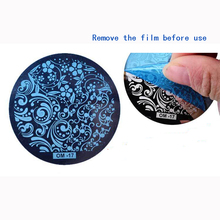 New 60 Designs Nail Art Plate Stamp Stamping Set Round Stainless Steel DIY Nail Polish Print Manicure Nail Stencil Template