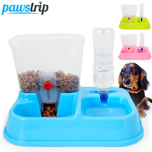 Candy Color Automatic Dog Feeder 4L Volume Dog Food Container Water Drinking Dispenser (Without Bottle)