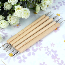 5 Ball Styluses Pottery Ceramics Tool Set for Embossing Pattern Polymer Clay Sculpting Tools , Nail Art Tools