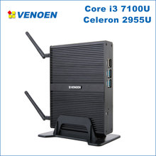 Самый дешевый Core i3 мини ПК Core i3 7100U Celeron 2955U Minipc Windows 10 Скелет аудиовидеоцентра i3 i5 i7 4 к Выход Микро компьютер Linux i7(China)