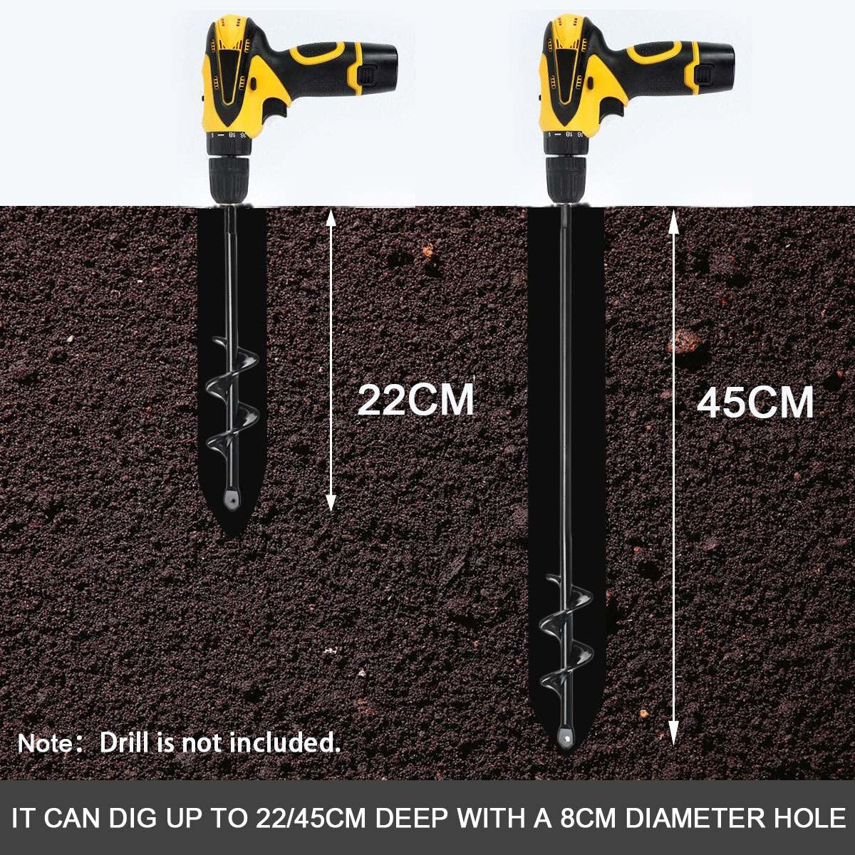 Shower Faucet - Earth Auger Hole Digger Tool Garden Planting Machine Drill Bit Fence Borer Post Hole Digger