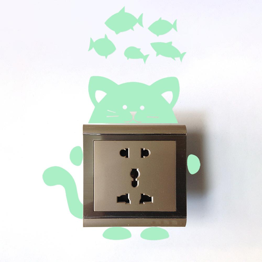 26 Styles Luminous Cartoon Switch Sticker Glow in the Dark Cat Sticker 26 Styles Luminous Cartoon Switch Sticker Glow in the Dark Cat Sticker HTB1WazedFHM8KJjSZFwq6AibXXaj