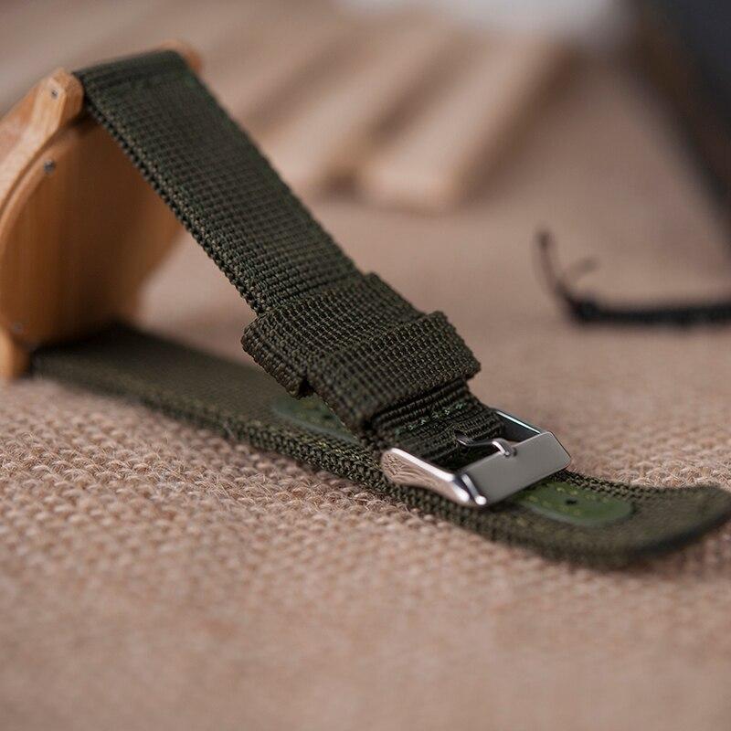 Drewniany zegarek Bobo Bird style Green D11 pasek