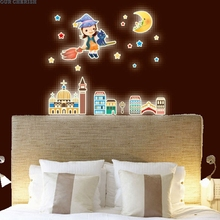 Best Selling A Set Kids Bedroom Fluorescent Glow In The Dark Stars Wall Stickers drop shipping Sep13(China)
