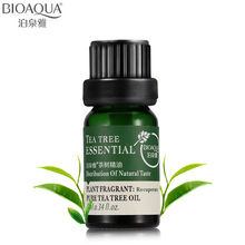 BIOAQUA Brand Pure Tea Tree Essential Oil Face Body Hair Skin Care Moisturizing Anti Aging Perfume Massage Oils Liquid 10ml(China)