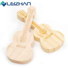 LEIZHAN Wood Guitar USB  Flash Drive 16GB USB Stick Cute 4GB PenDrive 32GB Pen Drive 2.0 Computer Memory Stick 8GB