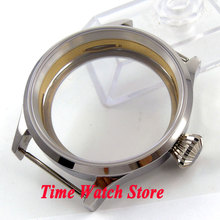 43mm sapphire glass Polished 316L stainless steel Watch Case Fit ETA 6497 6498 movement C94