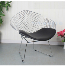 Harry Diamond Leisure Chair Diamond Steel Wire Chair Bertoia Diamond metal Chair pad Modern Wire Chair chromed black white red