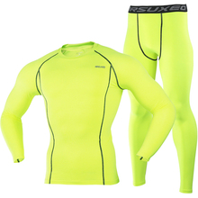 2017 man cycling shirt and pants running compression socks underwear sets of exercise to find the gym sports tights(China)