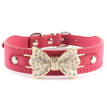 Dog Collar Bling Personalized Pet Dog Collars with Buckle Puppy Cat Necklace Rhinestone Letters Charms mascotas