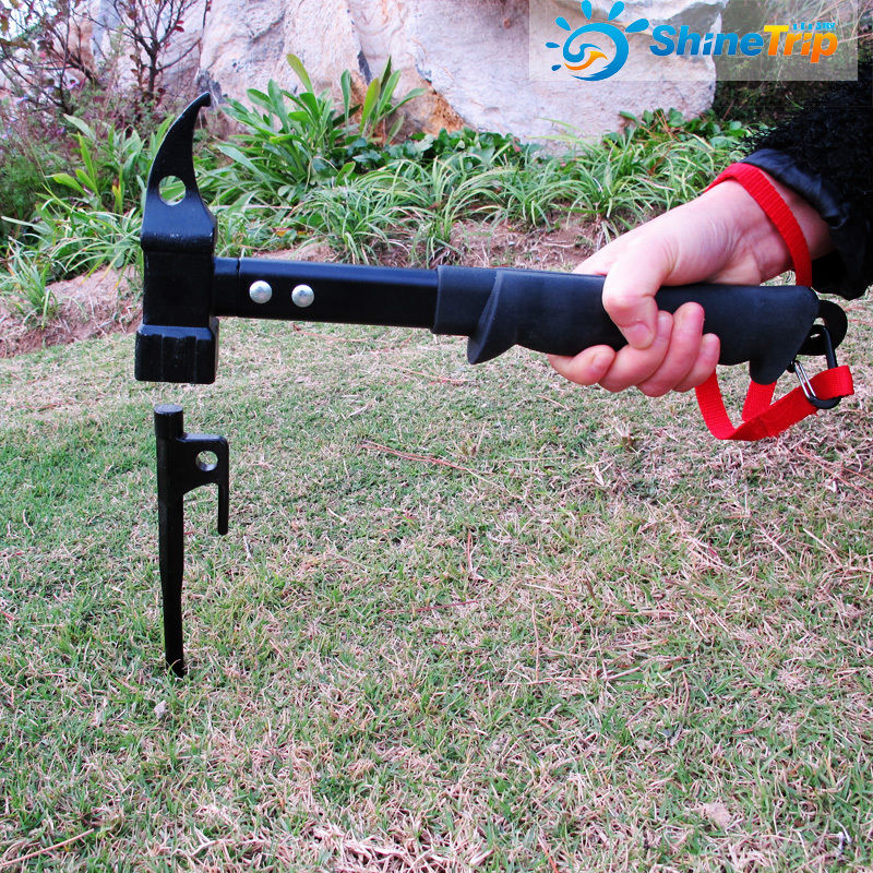 Multifunctional Cast Steel Hammer Outdoor Camping Hiking tent Pegs nail Hammer Puller Tools Free Shipping<br>