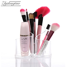 New Design Waved Acrylic Makeup Brush Organizer Cosmetics Storage Box Desktop Office Holder Home Accessories Gifts 15.5x11.5cm(China)