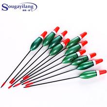 2014 New 10pcs/set 13cm Nano plastic Long Tail Fishing Bobber Buoy Carp Fish Eye Alarm Float Fishing Tackle Fishing Float(China)