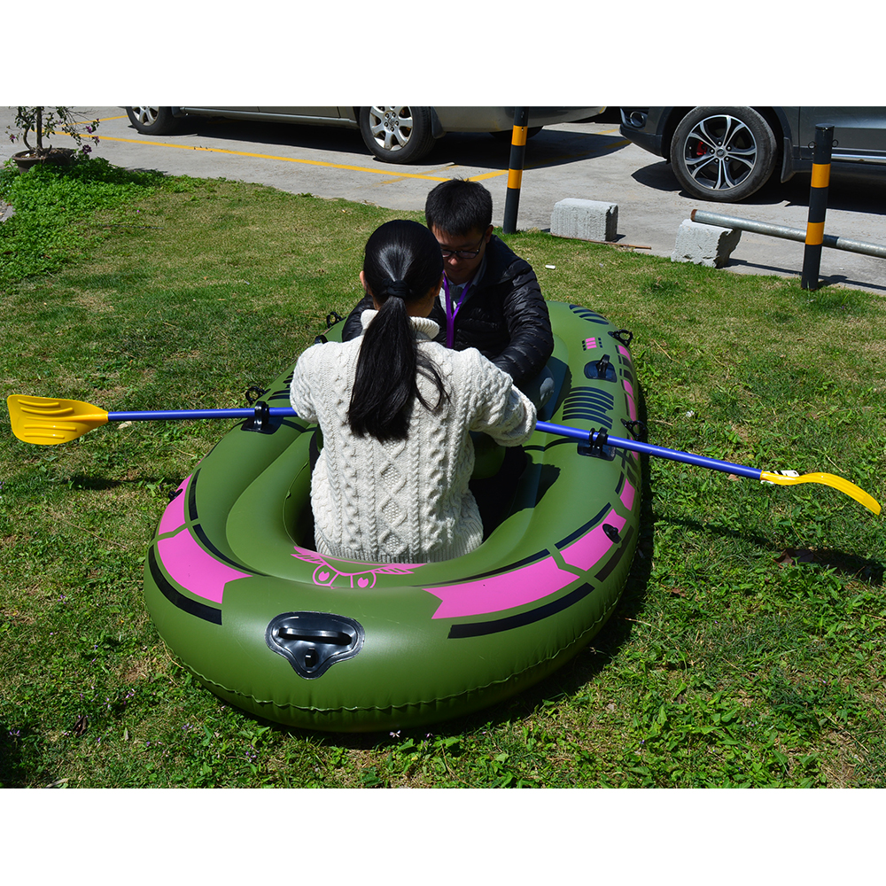 1 Set 2 - 3 Person Portable Inflatable Boat High Strength PVC Rubber Fishing Boat 230x137cm with Paddles Pump Patching Kit (6)