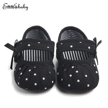 0-18 메터 Baby Shoes Kids Soft 솔 Shoes 2018 Autumn 유아 Boy Girl 유아 침대 Shoes Polka 점 신발 새(China)