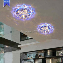 Lotus flower Crystal LED downlight Fixture Lighting crystal corridor hallway lights for living room lamp lights & lighting