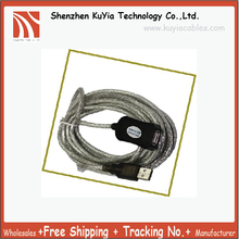 Free Shipping 5M Active/Amplified USB Extension Cable Male-Female(Compatible with both low and high-speed USB v1.1)