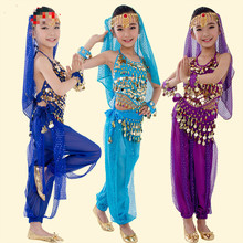 Belly Dance Costume Children Indian Costume Set Girls Oriental Dance Costumes Child Bollywood Dance Costumes for Competition 89