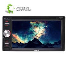 Double Din Android 6.0 Car Stereo with Quad Core 6.2'' Touch Screen Car DVD Player GPS Auto Radio + Remote control/External MIC(China)