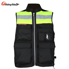 Motorcycle ride service night reflective vest clothes neon clothing jersey vest printing(China)