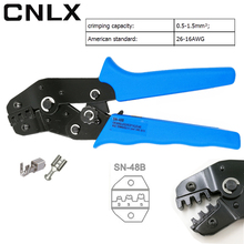 CNLX SN-48B wire crimping pliers eupop style crimp tool capacity 0.5-1.5mm2 26-16AWG brand high quality steel hands tools