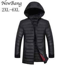 5XL 6XL Plus Size Men Ultralight Down Long Jacket Spring And Autumn Men's Feather Hoodies Coats Outwear