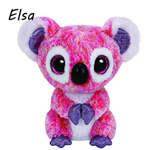 Original Ty Beanie Boos Big Eyes Plush Toy Doll Pink Koala Baby Kids Gift 10-15 cm WJ159