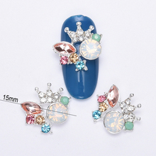 10pcs 3d strass crown nail art supplies charm glitter drill nail art decorations acrylic for DIY new manicure BL237