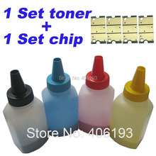 4 Toners +4 Chips x Compatible for Xerox Phaser 6121 color refill toner powder 106R01469 106R01466 106R01467 106R01468