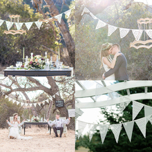 3.2m 12 Flags Wedding Decoration Boda Handmade Lace Pennant Party Decoration Banner Home Decoration Party Supplies Events