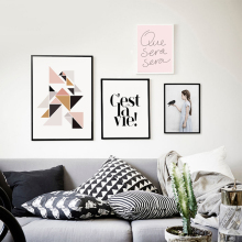 Wall Pictures For Living Room Cuadros Canvas Prints Nordic Poster Girl Bird Wall Art Canvas Painting Posters and Prints Unframed(China)