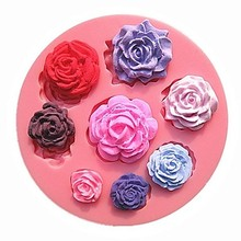 Eight Different Pattern Size Flower  fondant mold,resin clay chocolate candy silicone cake mould,fondant cake decorating tools
