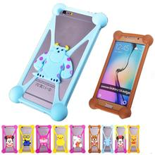 Winnie Pooh Cell Phone Cases For Philips Xenium W7555 Rubber Anti-knock Case Cover For Philips Xenium W7555 Pouch Case Fundas