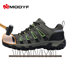 Buy Modyf outdoor shoes Men steel toe cap safety shoes breathble climbing footwear anti-smashing puncture proof shoes for $46.53 in AliExpress store