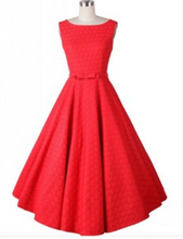 Women Sleeveless retro Bowknot V Back Casual Midi Party Skater Dress Red White Lace Spring Summer Plus Size A Line Vestidos