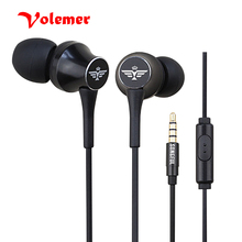 Volemer T3 In-Ear Stereo Earphone with Microphone fone de ouvido Super Bass Headset Earbuds For iPhone Xiaomi Mobile Phone MP3