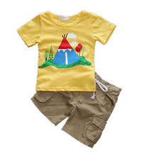 Kids Tales 2017 Summer NEW Baby Boys Clothes Set Boys Print T shirt + Shorts 2 Pcs Set Casual Kids Set Childrens Clothes