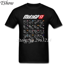 Moto Gp 2017 Calendar All Circuits T Shirt Men's Funny Picture T-shirts Male Short Sleeve pure Cotton Plus Size Tee Shirt Homme(China)