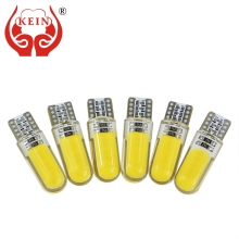 Buy KEIN 10PCS T10 W5W LED car interior light COB silicone auto Signal lamp 12V 194 501 Side Wedge parking bulb lada car styling for $5.93 in AliExpress store